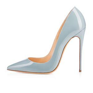 Zandina Damen Handgefertigte Mode ASO-kate 120mm Spitz Klassische Party Schlanke Heel Pumps Stiletto Schuhe Hellblau