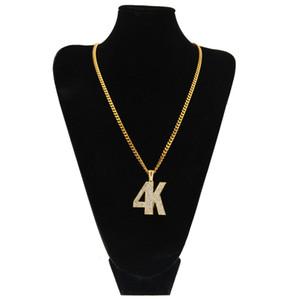 رجل الهيب هوب سبيكة 4K شكل قلادة قلادة الذهب والفضة حجر الراين الكامل قلادة القلائد عالية الجودة الكوبي سلسلة Hiphopman DJ الشرير مجوهرات