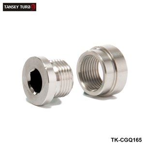 TANSKY -NEW Universal O2 Sensor Stepped Mounting Boss (1Bungs 1Plugs) M18X1.5 Fits American cars TK-CGQ165