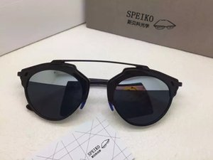 Wholesale-2017 neuester Art und Weise Marke Katzenauge Sonnenbrille Männer und Frauen Metallrahmen Sonnenbrille Sonnenbrille Frauen Katzenauge Retro-Stil