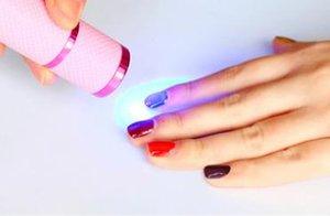 LG Nail Led Ampoule Pour Lampe Portable Manucure Lampe Nail Dryers Mini Phototherapy Lumière Batterie Pratique