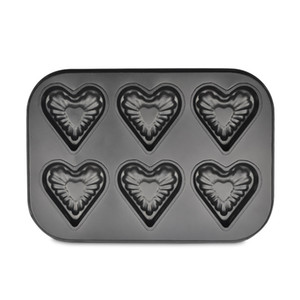 Wholesale- 6 cup Mini Bakeware Heart cake molds cupcake baking pans bread Cake Baking kitchen Tools Nonstick Bakeware Dish