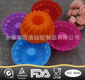 Nova Abóbora Forma 3D Bolo Cup Silicone Muffin Cupcake Mould Ferramentas de Cozimento Ferramentas de Decoração Do Bolo Para Bakeware 6.5 * 3 CM