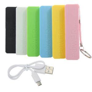 Perfume colorido Banco de alimentación USB cargador de batería de reserva externa el Powerbank Mini energía móvil para todo el teléfono elegante
