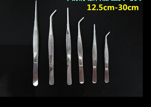 304 stainless steel round tweezers with teeth tools tweezers gardening water tweezers medical clip 12cm-30cm