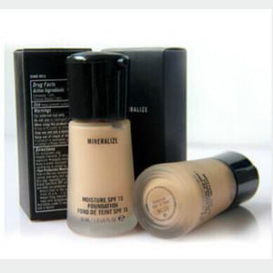 Hot 2pcs / lot suave mate todo el día maquillaje luminoso maquillaje maquillaje base base base 6 sombras maquiagem