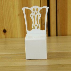 Европейский дизайн белый стул свадьбы пользу держатели день рождения Душа ребенка конфеты коробки DIY подарки коробка