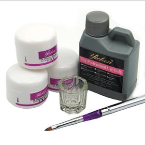Wholesale- Hot Sale Pro Acrylic Nail  Liquid 120ML Brushes Deppen Dish Acryl Poeder Nail Art Set Design Acrilico Manicure Kit 153#