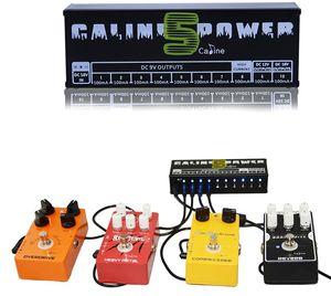 Sıcak satmak Caline CP-05 Gitar Efekt Pedalı Güç Kaynağı On İzole Çıkışlar (9V, 12V, 18V) Gerilim Koruması