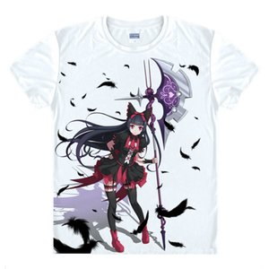 Animado Camisa Puerta Jieitai Kano Chi nite, Kaku Tatakaeri Camisetas Manga Corta lolita cosplay Rory Mercurio motivs Printed T-Style051-NO02