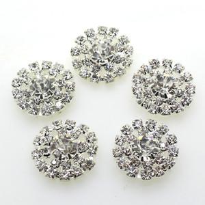 100 pcs 19mm Rodada Metal Cristal Rhinestone Button Decoração Do Casamento Enfeites de Artesanato DIY Acessório Do Cabelo Direto Da Fábrica