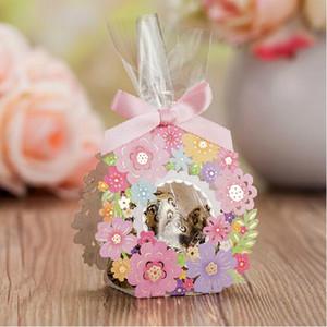 Scatole per bomboniere con taglio laser Bomboniere per ospiti con bomboniere per fiori 50 pezzi Bomboniere per matrimonio rosa Scatolina per cioccolatini in carta rosa