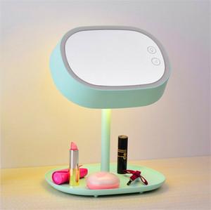 Specchio Muid per specchio cosmetico all'ingrosso Specchio per make-up + lampada a led + base di appoggio Multi-funzione USB Lampada da tavolo a specchio ricaricabile