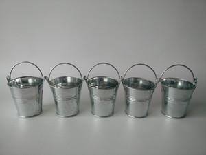 D7XH7CM Mini secchi di metallo Succulente pentola Tin Box Bambini Tin secchi Holder caramella di favore Silvery
