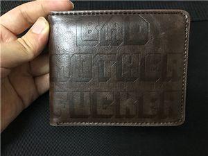 Il nuovo disegno BMF Portafoglio marchio del ricamo Bad Mother F * borsa cker Con Porta carte di credito Portafogli Uomo