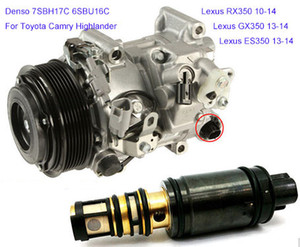Denso 7SBH17C 6SBU16 공기 압축기 컨트롤 밸브 Lexus RX350 10-14 Toyota Camry Highlander 12V