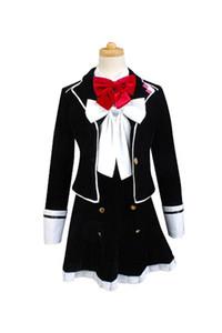 Kukucos Anime DIABOLIK LOVERS 뱀파이어 코모리 Heroine 코스프레 마치 남자들 한복 Women Uniform Dress 한 벌