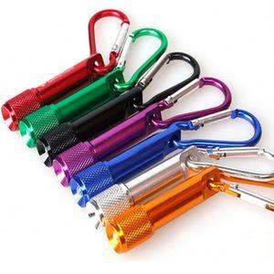 CRESTECH mini led linterna llavero cuerpo de aleación de aluminio mini leds con mosquetón anillo deportivo mini linterna llavero envío gratis DHL