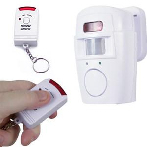 Alarma de seguridad de seguridad en el hogar con sensor de movimiento infrarrojo HDE con control remoto de llavero