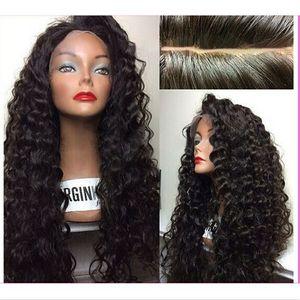 Бразильские Человеческие Волосы Полные Парики Шнурка Девственные Волосы Глубокой Волны Полные Парики Шнурка Для Черных Женщин Шнуруют Передние Парики С Волосами Младенца