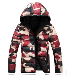 Wholesale- Free shipping Men's new winter men's cotton padded slim casual men and women couples dress down cotton camouflage coat