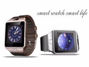 2021 Neue Smart Watch DZ09 mit Kamera Bluetooth Armbanduhr SIM-Karte Smartwatch für iOS Android-Telefone unterstützen Multi-Sprachen