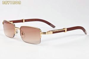 Envío gratis 2017 nuevo retro cuerno de búfalo gafas mujeres hombres madera gafas de sol de bambú con cajas lunettes de soleil homme
