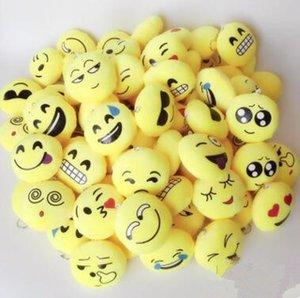 2017 QQ emoji Brinquedos chaveiro 6 cm emoticons smiley pouco pingente emoção amarelo QQ calças de pelúcia bolsa pingente