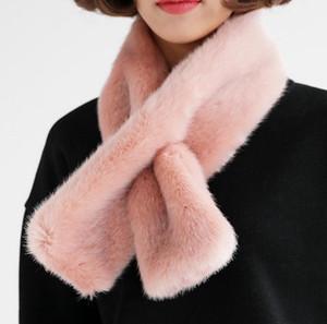 Outono e Inverno Imitação Rex Rabbit Fur Collar Imitação Fur Thick Plush Scarf