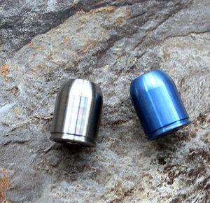 Wholesale-TC4 Titanium Alloy Paracord  Metal Charms Skull For Paracord Bracelet Knife Lanyards Accessories DIY Pendant Travel Kits