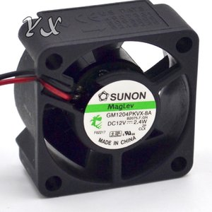 Envío gratis de alta calidad Nueva SUNON 40 20 GM1204PKVX-8A 12V 2.4W 2Wire Server Cooling Fan