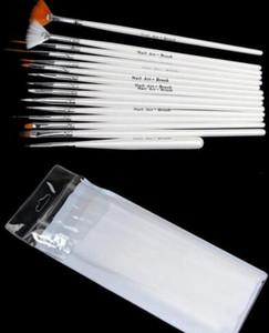 15pcs / set Decoraciones de arte de uñas Juego de cepillos Herramientas Pluma de pintura profesional para puntas de uñas falsas Esmalte de gel de uñas UV