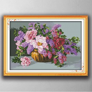 Красочные цветущие цветы декор картины, ручной вышивки крестом рукоделие наборы счетный печать на холсте DMC 14CT / 11CT