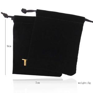 Commercio all'ingrosso Black Blay Grade Bannelette Borse Imballaggio per gioielli per gioielli di orsi regalo