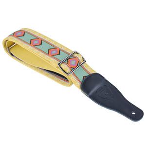 Épaissir la largeur de la courroie 6MM de courroie tissée de Jacquard pour des boucles en métal basses électriques de guitare acoustique