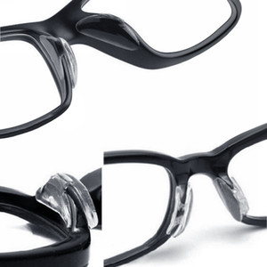 Gafas de gafas de sol de 2.5 mm Gafas antideslizantes de silicona, barra suave en almohadillas de nariz 20 par / lote