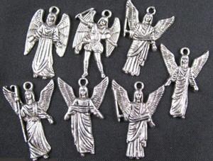 200PCS mistos tibetanos encantos de prata asa de anjo A1696 FREESHIP