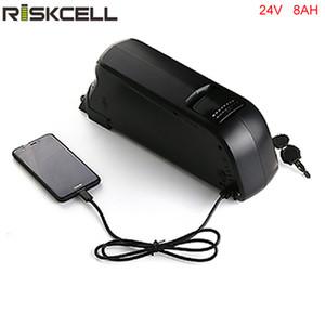 UE EE. UU. Free Tax Ebike Battery Dolphin 24V 8Ah Batería de litio 24V 250W Down Tube Batería de bicicleta eléctrica con 15A BMS