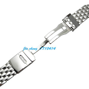 JAWODER Cinturino 22mm Cinturino per orologio in acciaio inossidabile lucidato Accessori per bracciale Adattatore argento per NAVITIMER MONTBRILLANT
