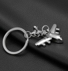 Supporto in lega di zinco Portachiavi nuovo piano portachiavi Mini Aereo Modello anello chiave per gli uomini portachiavi Charms catena chiave Aereo Portachiavi di Natale