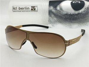 Германия дизайнер мужчины Марка солнцезащитные очки IC m4050 ультра-легкий без винта памяти сплава очки съемный металлический каркас из нержавеющей стали с коробкой