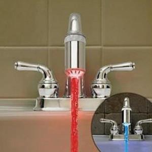 Нет батареи Автоматический датчик температуры 3 цвета RGB свечение душ светодиодные водопроводный кран Оптовая