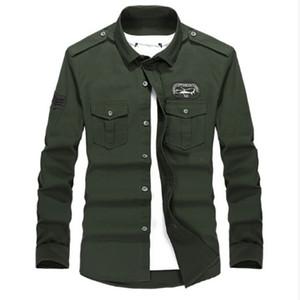 Además los hombres uniforme del estilo del tamaño M-4XL de alta calidad de los hombres de verano informal camisa de manga larga de ocio camisa de manga larga