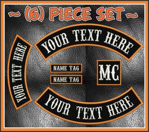 Custom Biker Rockers bordado parche emblema de hierro en la chaqueta MC Biker Back Patch envío gratis