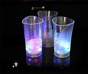 LED Cup Moonlight luminoso colorati regalo Glow Vaso Coppe creativo Wine Glass originalità regalo di San Valentino gli amanti dell'acqua luci a LED 5 6jc R