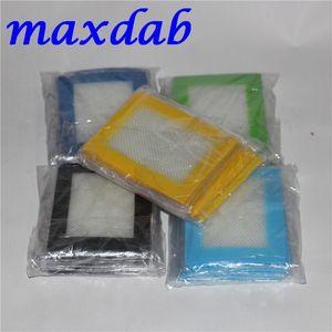 ABD Kanada Popüler FDA onaylı küçük boyutu 11 * 8.5 cm yapışmaz kaygan yağ silikon dab mat pad silikon mat pişirme için silikon kuru ot mat