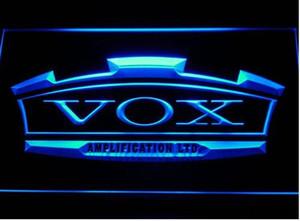 VOX Amplifier Guitar Bass Band Bar Birra pub club 3d segni LED Neon Sign uomo grotta