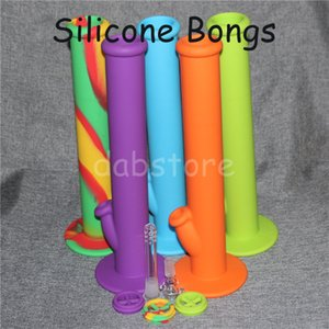 New Style Hot Quality Silicon water bongs glass bongs glass water pipe silicone bongs silicone water pipes free shipping DHL