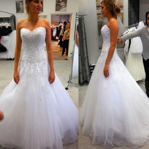 Hot Lace A-Line abito da sposa più i Appliques dimensioni al largo della spalla Vestido De Noiva alta qualità abiti da sposa Casamento