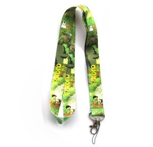 Wholesale Mixed 10 pcs Popular Cartoon My Neighbor Totoro Mobile phone Lanyard Key Chains Pendant Party Gift Favors 0075